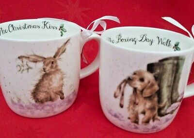 Two mugs by Wrendale Designs  Royal Worcester Brand new