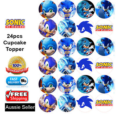 24 Sonic The Hedgehog Fairy Cake Toppers Edible Party Decorations 1 99 Picclick Uk