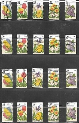 U S Stamps Used  2760 - 2764 Garden Flowers One (1) Of These Vf Sets