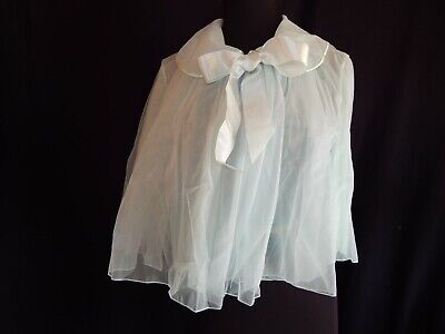 Mint Vintage Vanity Fair cape style Bed Jacket, Small, Tricot nylon