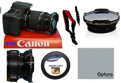 58MM HD3 HD WIDE ANGLE LENS + MACRO LENS FOR Canon EF-S 55-250mm f/4-5.6 IS STM
