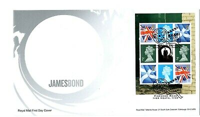 2020 James Bond Prestige Pane GB FIRST DAY COVER FDC PINEWOOD *NICE* 17.3.20