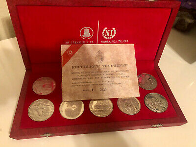 1969 Republic of Tunisia 10-Coin Proof Sterling Silver Set