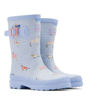 Kids Joules Girls sbsbdog Knee High Pull On Snow Boots, Blue, Size 0.0 shlq US /