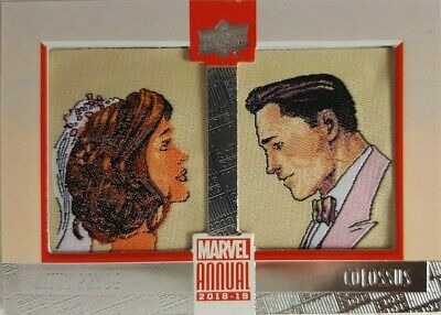 2018-19 Marvel Annual DUAL COMIC PATCH Card PD-7 Kitty Pryde / Colossus