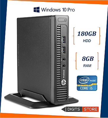 PC MINI COMPUTER DESKTOP RICONDIZIONATO HP CORE i5 RAM 8GB SSD 180GB WINDOWS 10