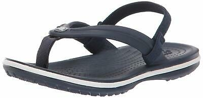 Crocs Kids' Boys and Girls Crocband Strap Flip Flop, Navy, Size 11.0 OkiQ US / 1