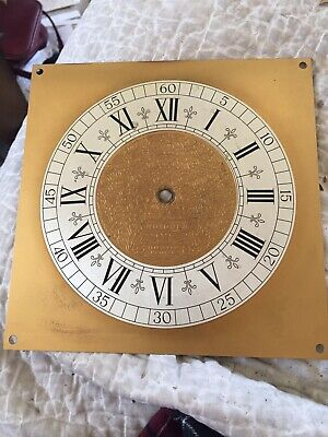"Vintage Nutone Bracket Clock Face 7.5""sq"
