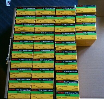 Kodak Tri-X 7266 B&W Super 8mm Movie Film Reversal Sealed 19 Boxes Left SoldEach