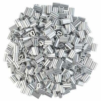 "1000pc 1/16"" Cable Ferrule Aluminum Crimping Loop Sleeve Duplex Securing Wire US"