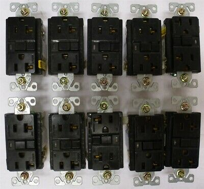COOPER Ground Fault Circuit Interrupter 20A Receptacle 2P 125V LOT OF 10 GFCI