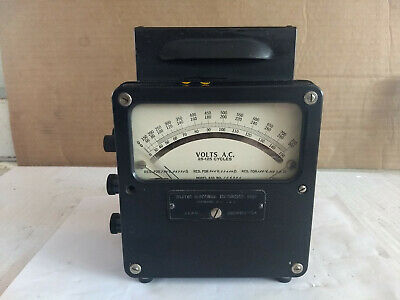 Vintage Weston Model 433 AC Volt Meter Works 3 Ranges 150v 300v + 750v