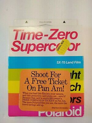 Sealed Polaroid Time-Zero Supercolor SX-70 Land Film  Exp 01/90 10 Pics