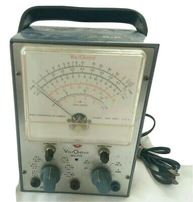 RCA Voltohmyst Type WV-77E Vintage volt meter test equipment Powers On