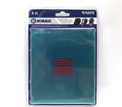 "Kobalt Welding Helmet Outer Replacement Lens 5-1/4""x4-1/2"" 0752078 4-Pack"