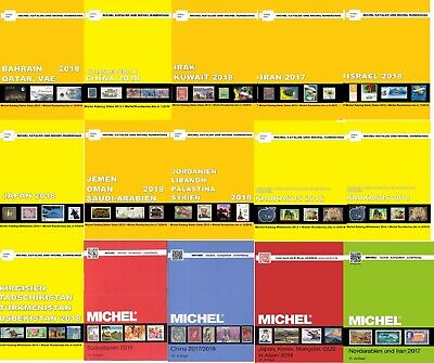 Michel 2017-2019 ASIA Standard Postage Stamps Catalogue 15 Countries
