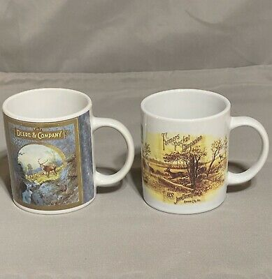 SET OF 2- JOHN DEERE COLLECTOR COFFEE MUGS Coffee Cup Mug