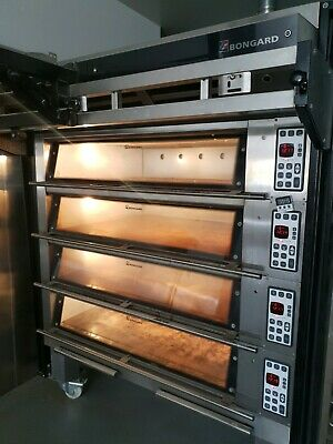 Bongard M4 deck oven with loader