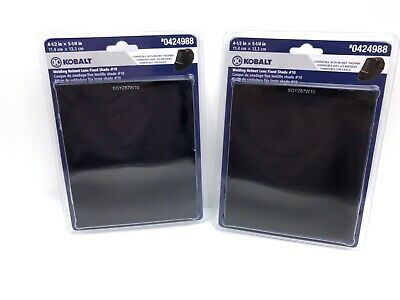 Kobalt Welding Helmet Lens Fixed Shade #10 Compatible with 0424984 Lot of 2