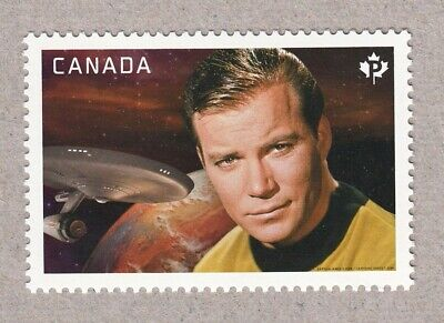 STAR TREK = WILLIAM SHATNER as CAPTAIN KIRK = MiniSheet Stamp Canada 2016