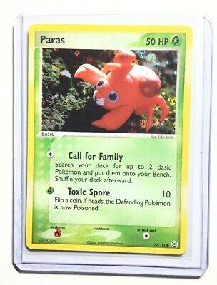 PARAS - 72/112 - Fire Red Leaf Green - Holo - Pokemon Card - NM