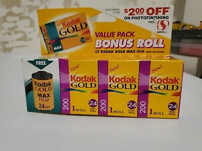 Vintage Kodak 24 Film - Kodak MAX & Kodak GOLD 200- New / Unused