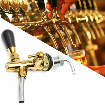 Gold Beer Faucet Stainless Steel Chrome Tap Tower Controller Draft For Kegerator