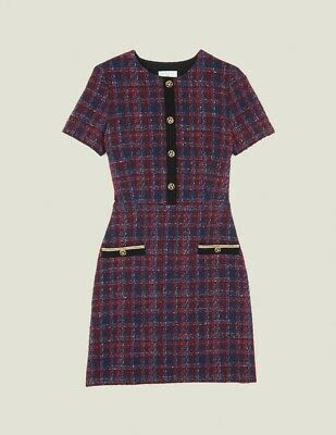Sandro Chela Tweed Mini Dress - Multi