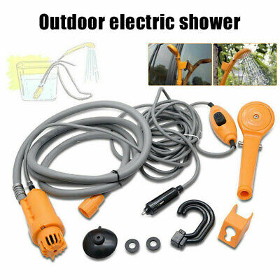 Plastic Shower Water Pump Handheld Nozzle Portable Rechargeable Electric