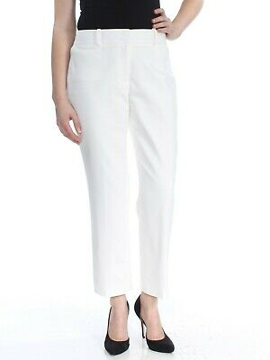 TOMMY HILFIGER $79 Womens New 1675 Ivory Bristol Ankle Slim Leg Pants 10 B+B