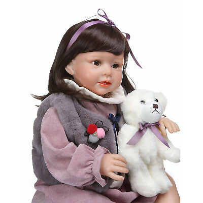 28'' Toddler Reborn Girl Doll Realistic Kids Baby Birthday Gifts Doll Playmate