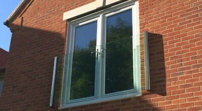 Glass Balcony 1200mm-3000mm 5 Year Guarantee. Alaska Glass Juliet Balcony