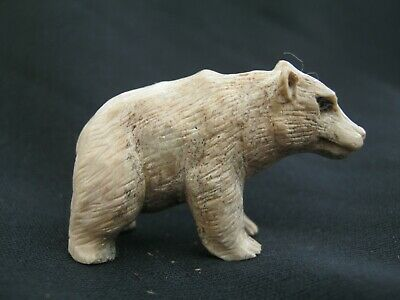 Beautiful Hand Carved Statue Of A Scottish Badger - Made From Red Deer Antler