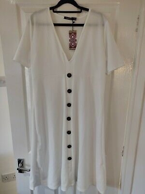 Boohoo Maternity Button A Line Midi Dress Size 16