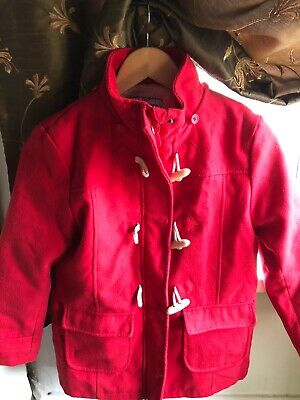 Red Girls Duffle Coat Peter Storm Age 9-10