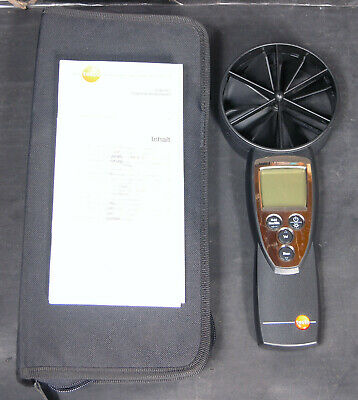 Testo 417 Rotating Vane Anemometer  Velocity / Air Flow / Temperature