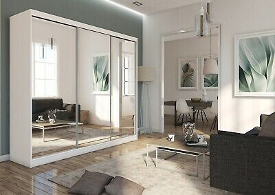BRAND NEW 7 SIZES VARIOUS COLOURS WARDROBE sliding door bedroom furniture