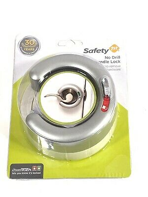 Safety First Door Lever Handle Lock No Drill Security Protection New Sealed
