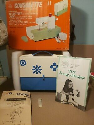 Crystal Consolette Portable Electric AC Battery Operated Sewing Machine
