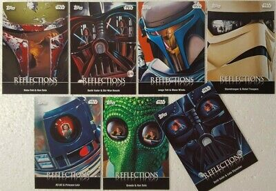 2016 Topps Star Wars Card Trader Physical Trading Card Set  REFLECTIONS ( 7 )
