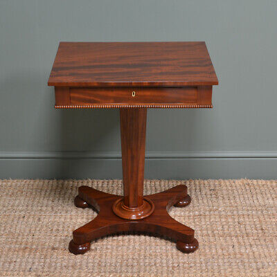 Stunning William IV Antique Mahogany Pedestal Occasional Table