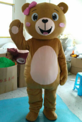 Ted Mascot Costume2018 Teddy Bear Of Cartoon Valentine Party Adult Fancy Dress