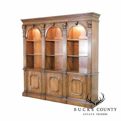 Henredon Triple Arch Library Bookcase Display Cabinet