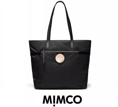 MIMCO Waver Tote Black Bag Handbag Shopping Large Pouch RRP $249 Rose Gold New