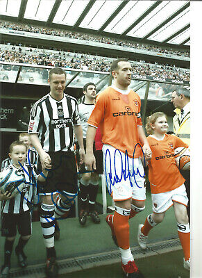 Charlie Adam Kevin Nolan Newcastle United signed football photograph SS555