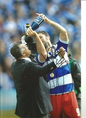 Charlie Austin QPR Hand signed 12x8 inch authentic football photograph SS566A