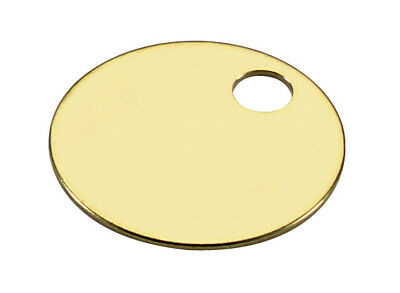 """Lucky Line 26012 1-1/4"""" Solid Brass Key Tag with 1 Hole 100 Per Display Box"""