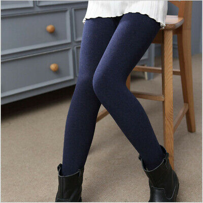 Buy One Get One  Free Kids Tights Girls Boys Navy  Cotton Rich Winter 2-8 Years