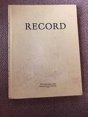 """Federal Supply Service Record Keeping Notebook Book 8"""" x 10 1/2"""""""