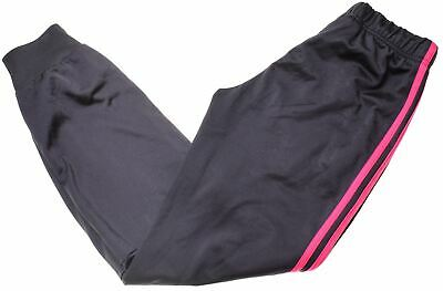 ADIDAS Girls Tracksuit Trousers 13-14 Years Black Polyester  JS06